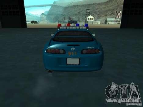 Toyota Supra California State Patrol para visión interna GTA San Andreas