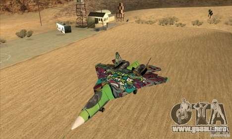 SU t-50 PAK FA Graffiti piel para GTA San Andreas left