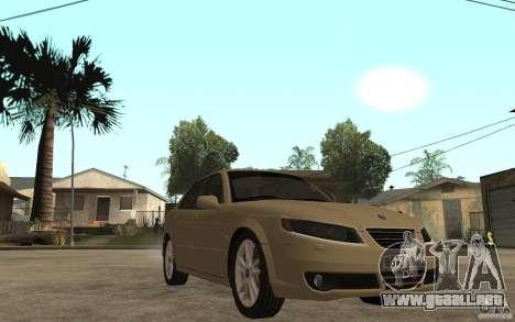 Saab 9-5 para GTA San Andreas vista hacia atrás