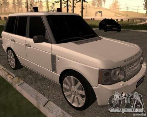 Land Rover Range Rover Supercharged para GTA San Andreas left