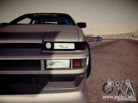Toyota Corolla AE86 para visión interna GTA San Andreas