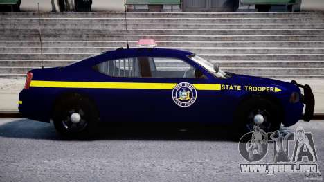 Dodge Charger NY State Trooper CHGR-V2.1M [ELS] para GTA 4 vista lateral