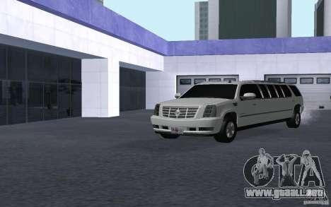 Cadillac Escalade 2008 Limo para la visión correcta GTA San Andreas