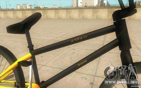 17.5 BMX para la visión correcta GTA San Andreas