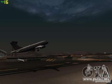 Airbus A319 United Airlines para visión interna GTA San Andreas