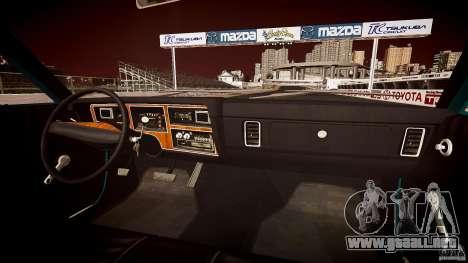 Dodge Aspen v1.1 1979 yellow rear turn signals para GTA 4 vista desde abajo