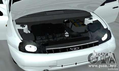 Lada Kalina Hatchback Stock para visión interna GTA San Andreas