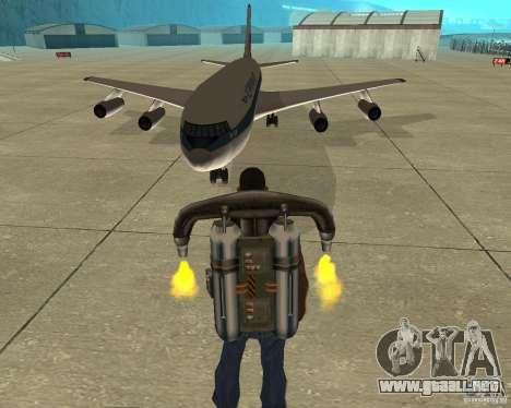 Ilyushin Il-86 para GTA San Andreas vista hacia atrás