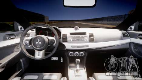 Mitsubishi Lancer Evolution X Tuning para GTA 4 visión correcta