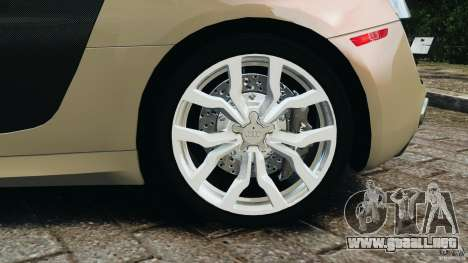 Audi R8 V10 2010 para GTA 4 vista superior