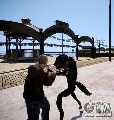 Werewolf from Skyrim para GTA 4 adelante de pantalla