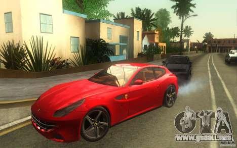 Ferrari FF para GTA San Andreas vista posterior izquierda