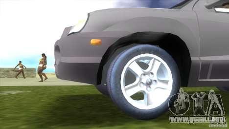 Hyundai Sante Fe para GTA Vice City vista lateral izquierdo