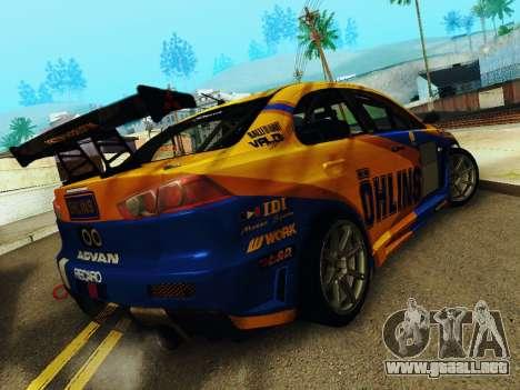 Mitsubishi Lancer Evolution para la visión correcta GTA San Andreas