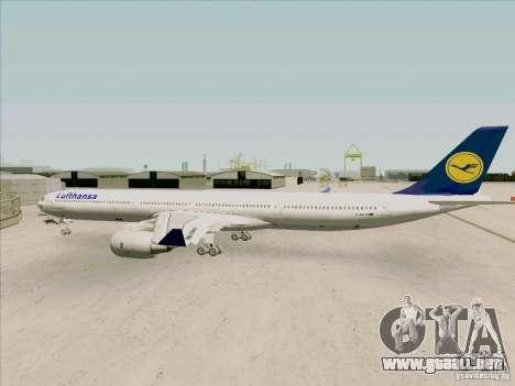 Airbus A-340-600 Lufthansa para la visión correcta GTA San Andreas