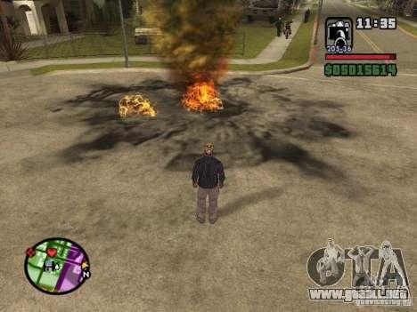 Overdose effects V1.3 para GTA San Andreas quinta pantalla