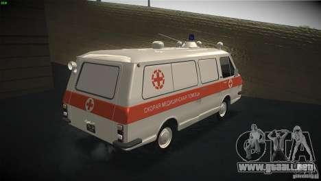 RAF 22031 ambulancia para la visión correcta GTA San Andreas