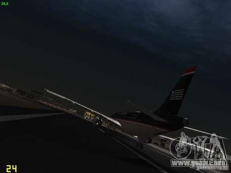 Airbus A319 USAirways para GTA San Andreas vista posterior izquierda