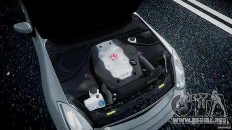Infiniti G35 Coupe 2003 JDM Tune para GTA 4 vista hacia atrás