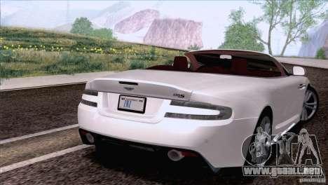 Aston Martin DBS Volante 2009 para GTA San Andreas left