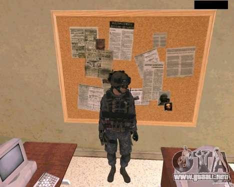 Piel del soldado de Cod MW 2 para GTA San Andreas
