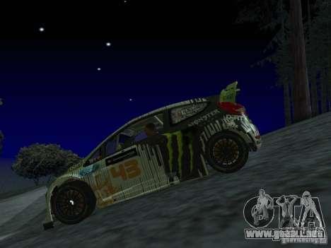 Ford Fiesta Ken Block WRC para GTA San Andreas vista hacia atrás