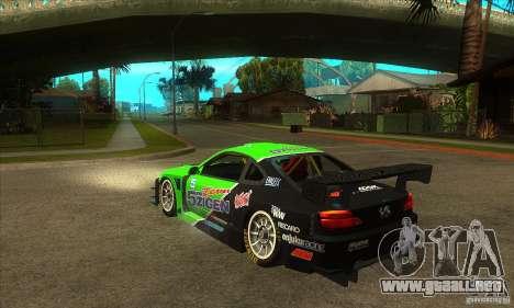 Nissan Silvia S15 - GT para GTA San Andreas vista posterior izquierda