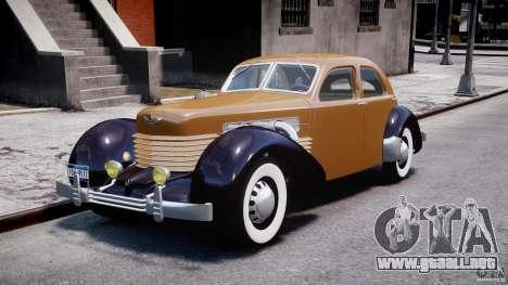 Cord 812 Charged Beverly Sedan 1937 para GTA 4
