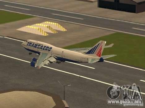 Boeing 747-400 para GTA San Andreas vista posterior izquierda