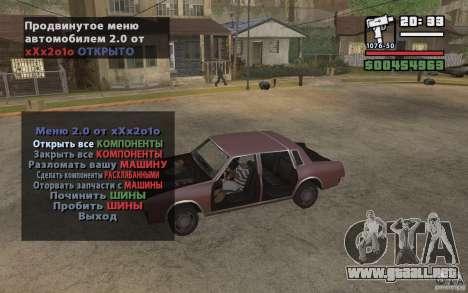 Extreme Car Control v.2.0 para GTA San Andreas tercera pantalla