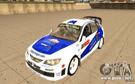 Subaru Impreza WRX STi con el único nuevo vinilo para GTA San Andreas interior