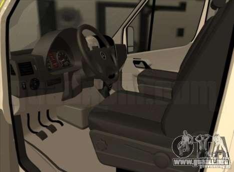 Mercedes Benz Sprinter SAAS para GTA San Andreas vista posterior izquierda