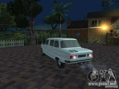 ZAZ 968 m Limousine para vista inferior GTA San Andreas