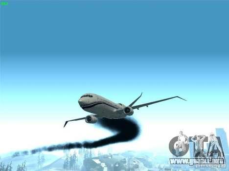 Boeing 737 Iron Man Bussines Jet para vista lateral GTA San Andreas