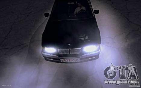 BMW 750i E38 2001 para la visión correcta GTA San Andreas
