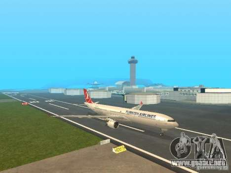 Airbus A330-300 Turkish Airlines para GTA San Andreas left