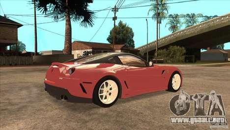 Ferrari 599 GTO 2010 V1.0 para la visión correcta GTA San Andreas
