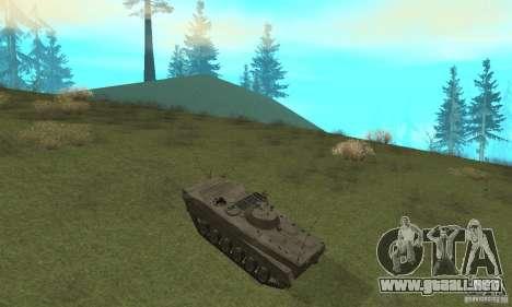 BMP-1 gris para GTA San Andreas vista hacia atrás