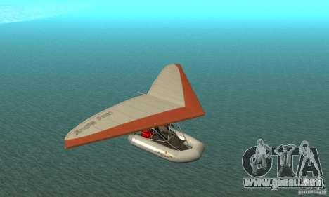 Wingy Dinghy (Crazy Flying Boat) para GTA San Andreas vista hacia atrás