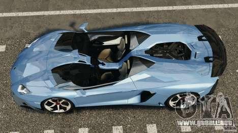 Lamborghini Aventador J 2012 para GTA 4 visión correcta