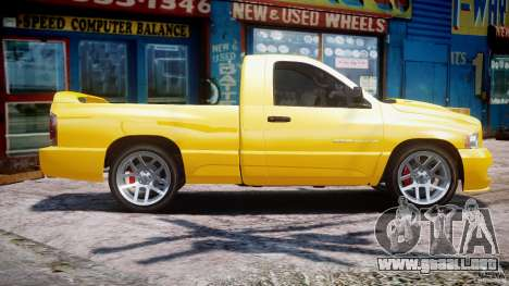 Dodge Ram SRT-10 2003 1.0 para GTA 4 left