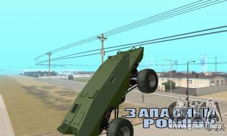 Trail Monster V.1.0 para GTA San Andreas vista hacia atrás