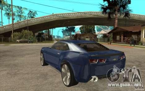 Chevrolet Camaro Concept Tunable para GTA San Andreas vista posterior izquierda