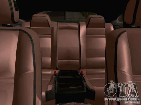 BMW X6 LT para visión interna GTA San Andreas