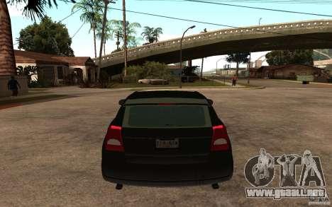 Dodge Caliber para GTA San Andreas vista posterior izquierda