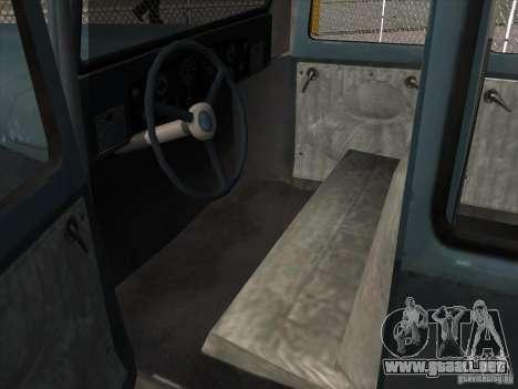 El vehículo de la segunda guerra mundial para visión interna GTA San Andreas