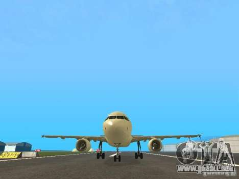 Airbus A319 Air Canada para vista lateral GTA San Andreas