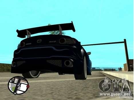 Mazda RX8 para vista inferior GTA San Andreas