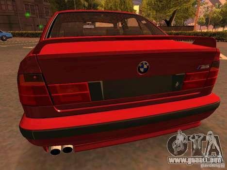 BMW M5 E34 para vista inferior GTA San Andreas