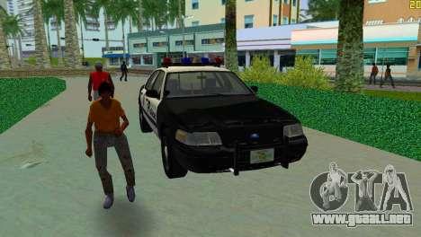 Ford Crown Victoria Police 2003 para GTA Vice City vista posterior